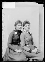 Delia Randell and Minnie Yandell, c.1891