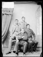 James Grant, Richard Sanderville, William Ellis and an unidentified young man, c.1890