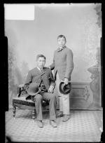 Bruce Fisher and an unidentified young man, c.1887
