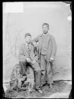Thomas Woodman and an unidentified male student, c.1889