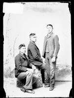 Martin Round Face, Charles Clawson, and an unidentified young man, c.1890