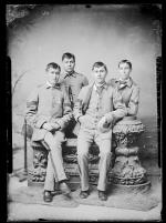 Arnold Woolworth and three unidentified male students, c.1885