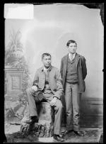 Willie Hazlett and Richard Sanderville, c.1891