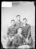 Otto Zotoum, Levi St. Cyr, Chauncey Yellow Robe, and John Tyler [version 1], c.1890