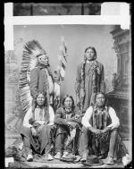 Photograph of a photo of Five Native American chiefs, c.1885