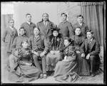 Quanah Parker and Lone Wolf with a group of students [version 1], 1894