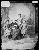 Jennie Waupoose, Elizabeth Dixon, and Alice Neopet with Sarah Mather [version 1], c.1881