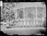 School band with Mrs. Baker [version 1], 1881