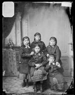 Five Sioux girls [version 1], c.1880