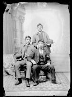 Charles Istee, Humphrey Escharzay, and Thomas Pelcoya [?], c.1888