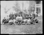 American Horse [?] and Richard Henry Pratt with a large group of students [version 1], 1897