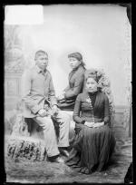 Lydia Harrington, Frank Harrington, and Jessie Spread Hands, c.1890