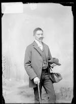 Reuben Wolf wearing false mustache, c.1887