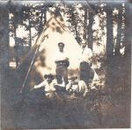 Turkeyfoot Lake Camp, 1915