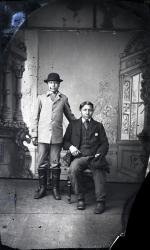Frank Lock and Charlie Bird, c.1883