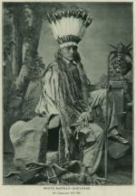 White Buffalo in headdress with bow and arrow (pose #1) [version 2], 1881