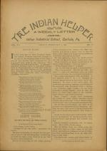 The Indian Helper (Vol. 12, No. 17)