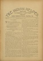 The Indian Helper (Vol. 12, No. 21)