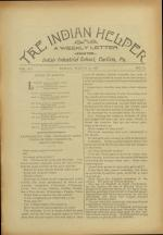 The Indian Helper (Vol. 12, No. 22)