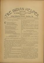 The Indian Helper (Vol. 12, No. 31)