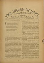 The Indian Helper (Vol. 12, No. 33)