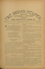 The Indian Helper (Vol. 12, No. 37)