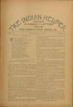 The Indian Helper (Vol. 12, No. 40)