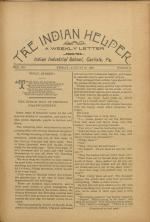The Indian Helper (Vol. 12, No. 45)