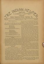The Indian Helper (Vol. 12, No. 51)