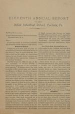 Eleventh Annual Report of the Indian Industrial School, 1890