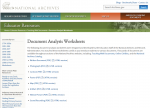 Document Analysis Worksheets
